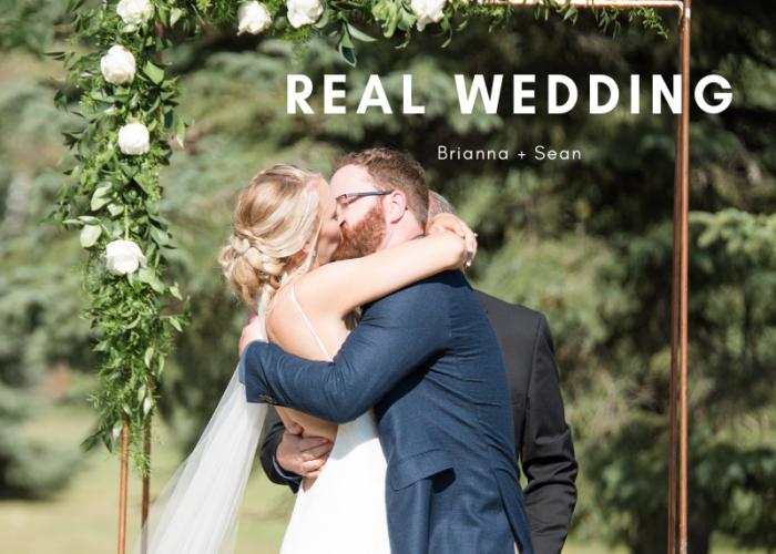 Brianna + Seans Minimalist Wedding